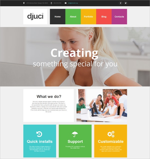 Design Studio Mobile HTML Website Template $139
