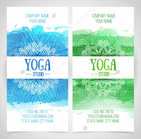 yoga studio brochure template
