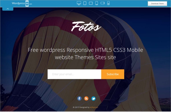 Creative Mobile WordPress Website Theme