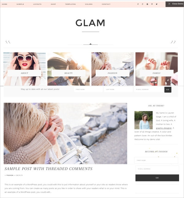 Business WP Website Theme $129