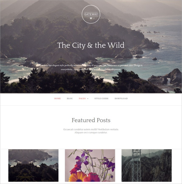 Elegant And Free Mobile WordPress Website Theme