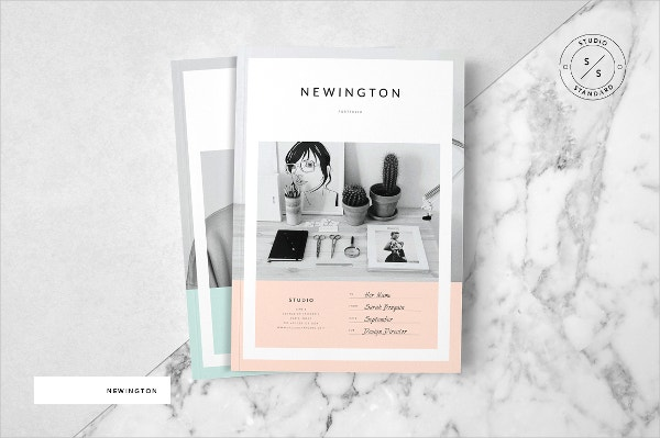 standard studio brochure template