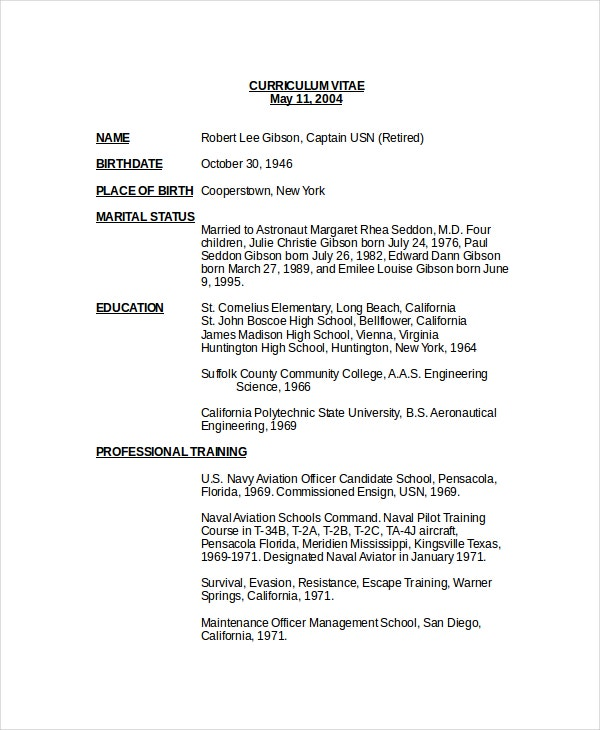 Good Basic Pilot Resume Templates  Airline Pilot Resume
