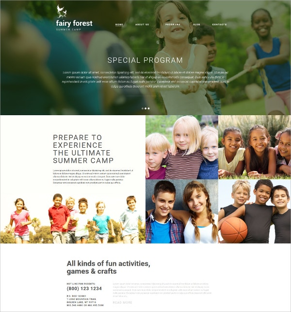 Family Forest Joomla Website Template $75