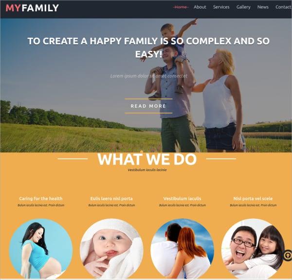 best family joomla theme