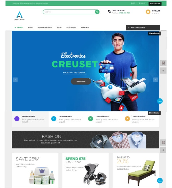 Family Prestashop Website Theme $70