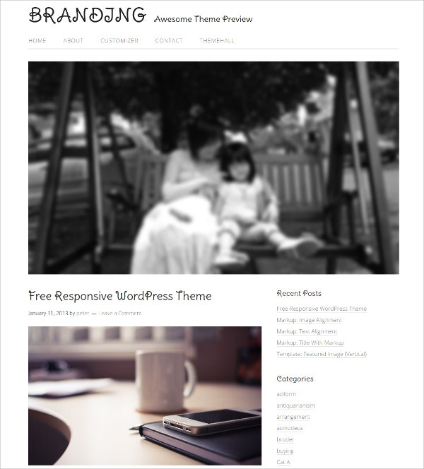 Free Responsive Family WordPress Website Theme