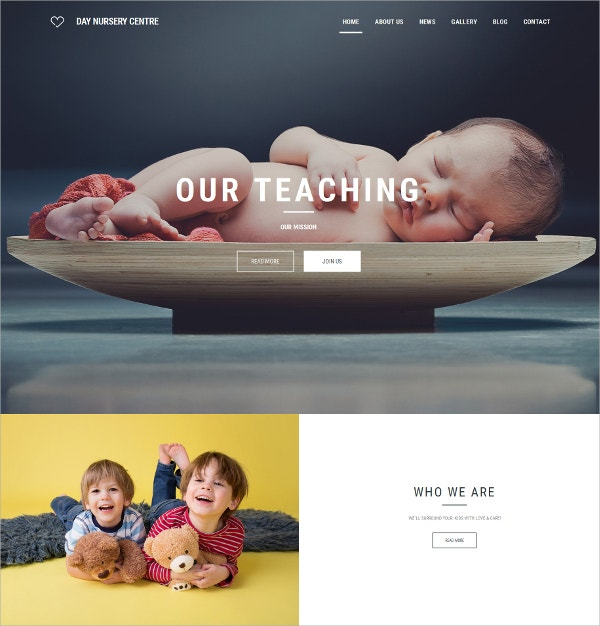 Babysitter Responsive Family Website Template $199
