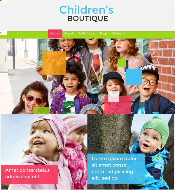 Family & Children Boutique Website Theme