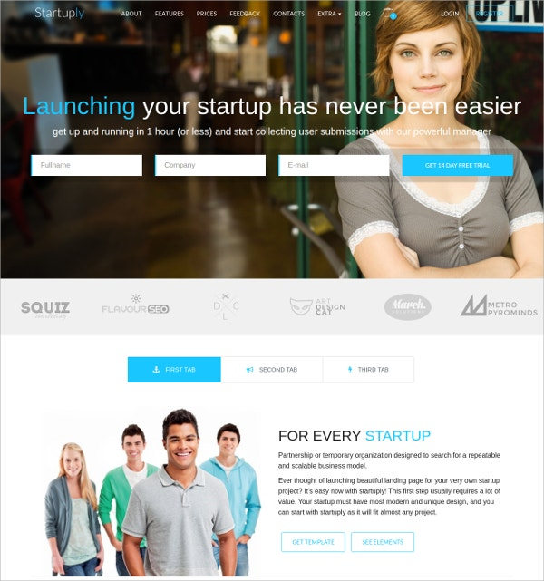 MultiPurpose Scrolling Startup Website Theme $49