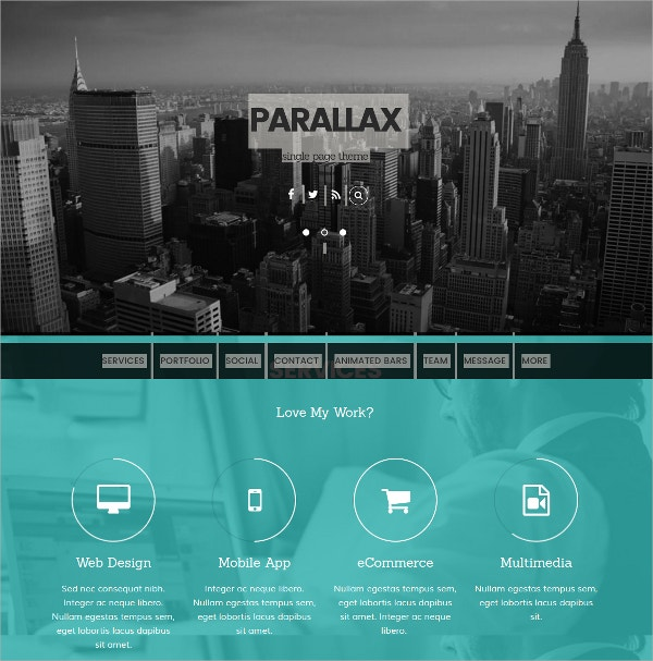 scrolling parallax website theme