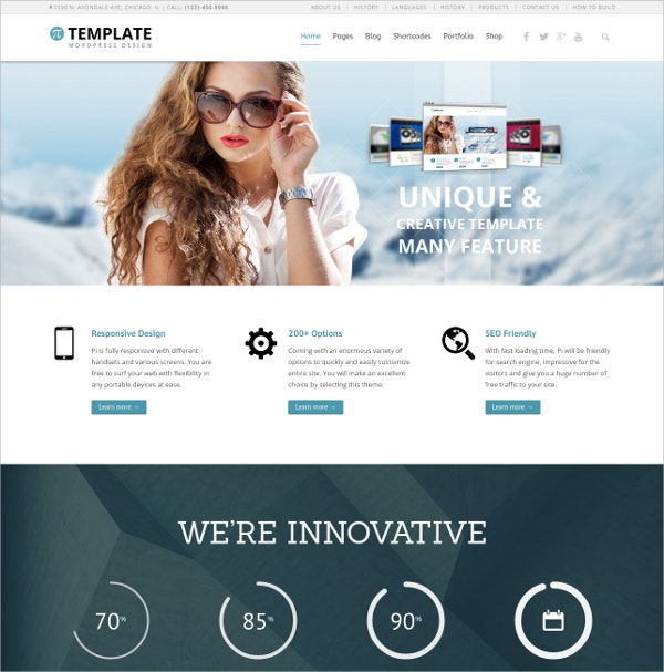 WordPress Scroling MultiPurpose Website Theme $20