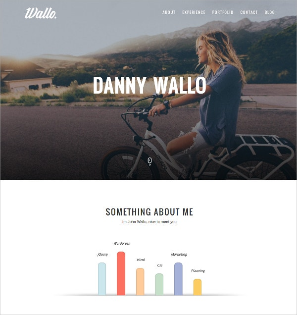 parallax scrolling onepage wordpress website theme 25