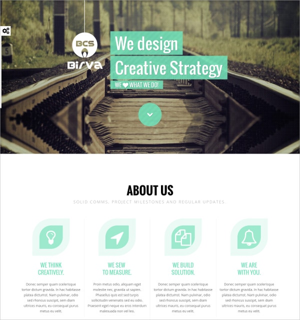 Creative One Page Scrolling Joomla Website Template $43