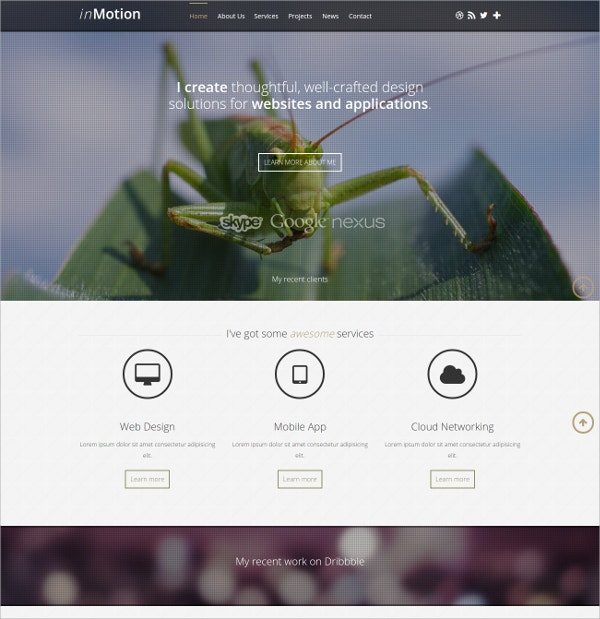 elegant parallax joomla website theme