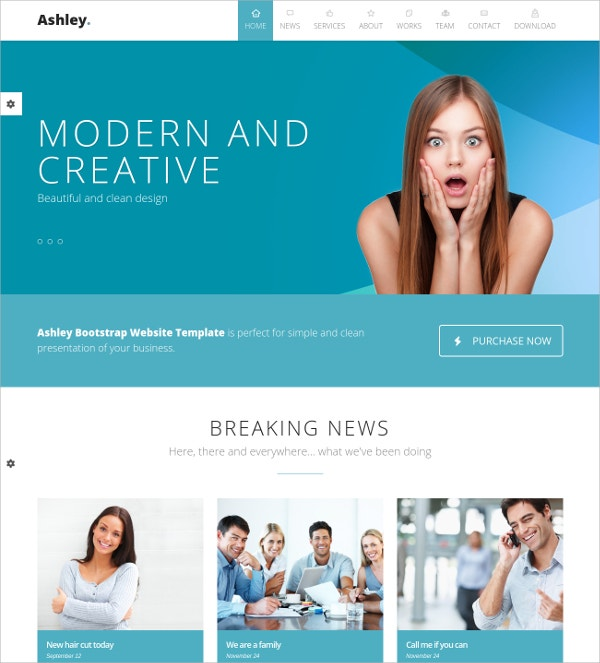 best one page parallax bootstrap website theme