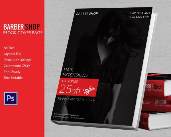 Book cover design template 54 psd illustration for Book cover page design templates free download