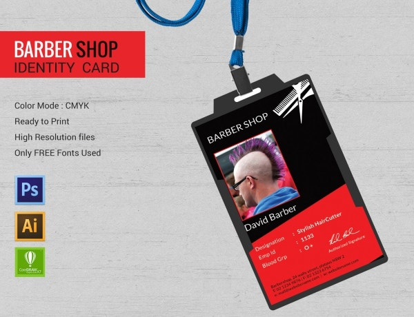 Barbershop Identity Card