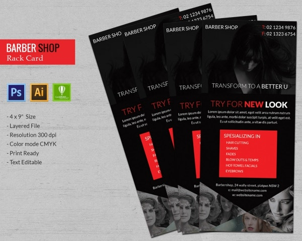Barbershop Rack Card