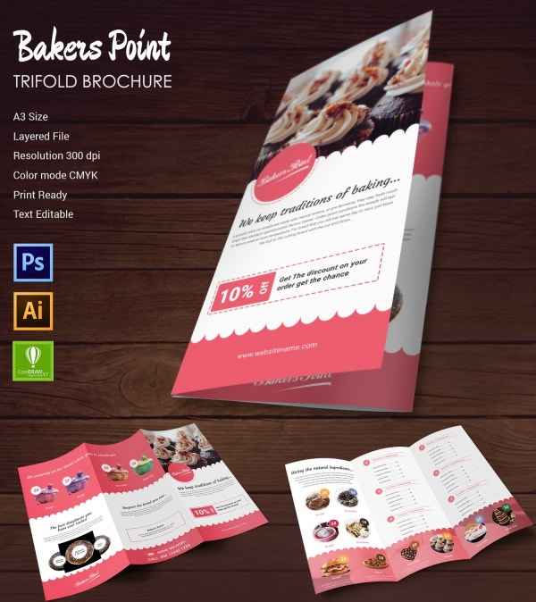 Bakery Templates PSD EPS CDR Format Download Free - Bakery brochure template free