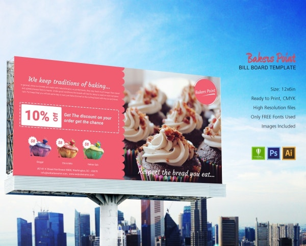 bakery billboard design template