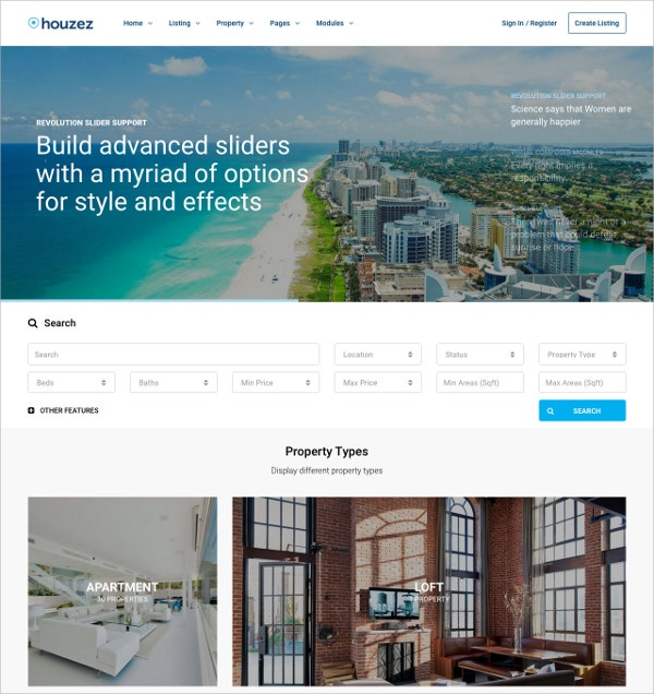 Real Estate WordPress Website Theme $49
