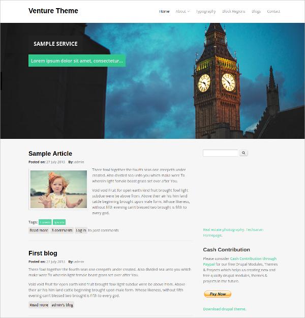Elegant Responsive Drupal Website Theme