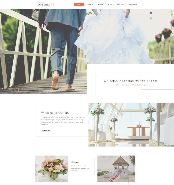wedding joomla website template 45