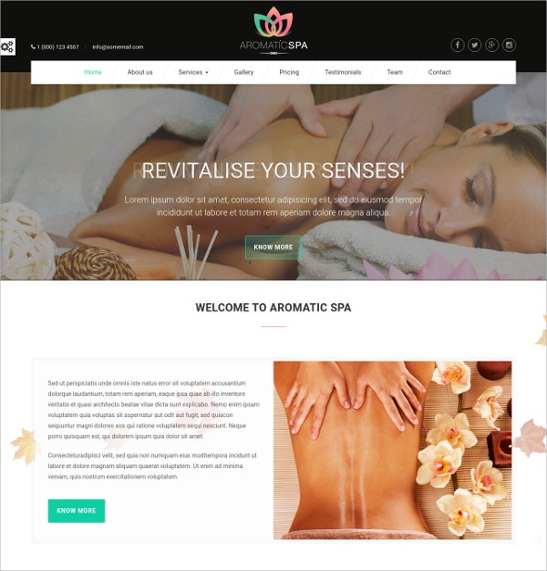spa saloon html5 website template 12
