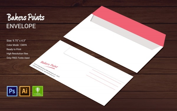 bakery envelope design template