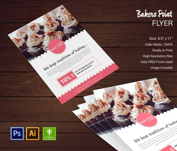 Bakery Templates PSD EPS CDR Format Download Free - Bakery brochure template