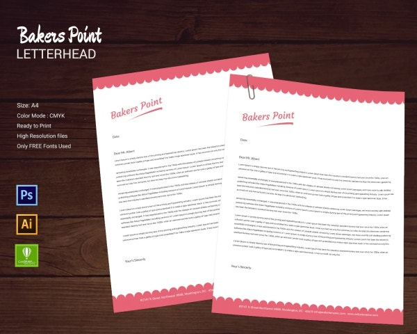 Bakery-Letterhead Friendly Letter Template For Middle on 3rd grade santa, for first grade, 1st grade, free downloadable blank, for kids pdf, past due, for kindergarten, format for, 3rd grade, to write,