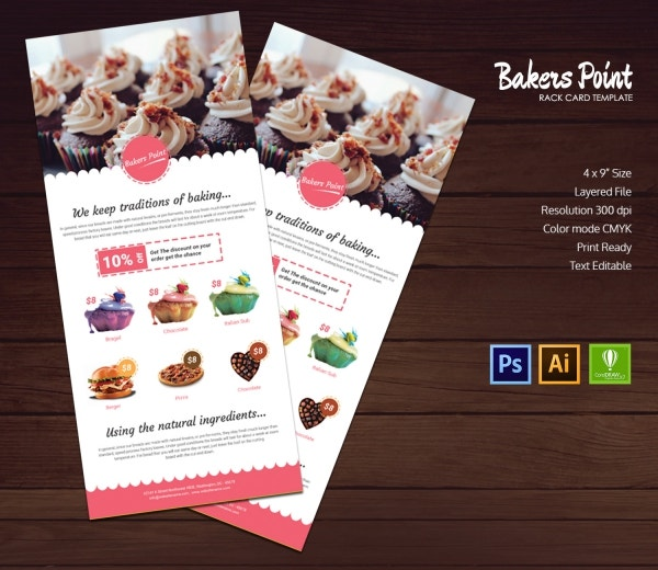 Bakery Rack Card