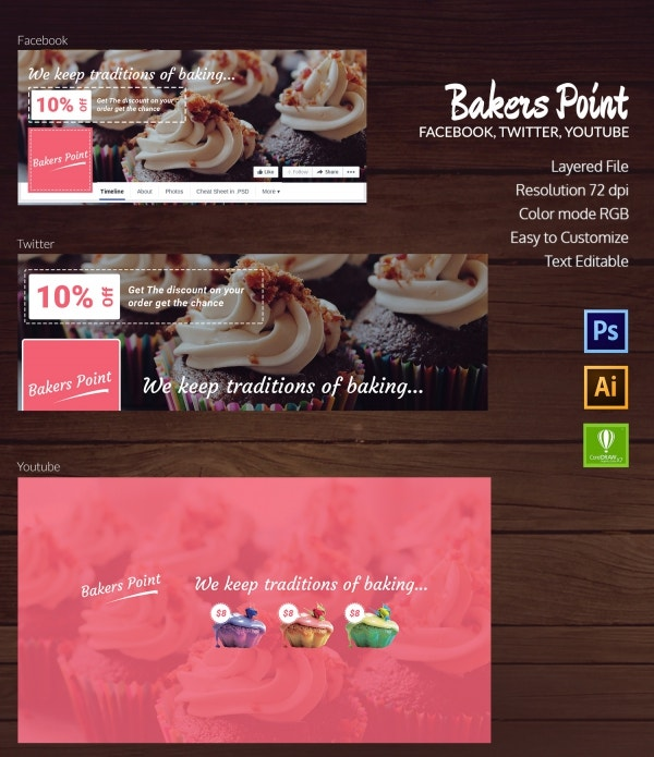 bakery social cover page