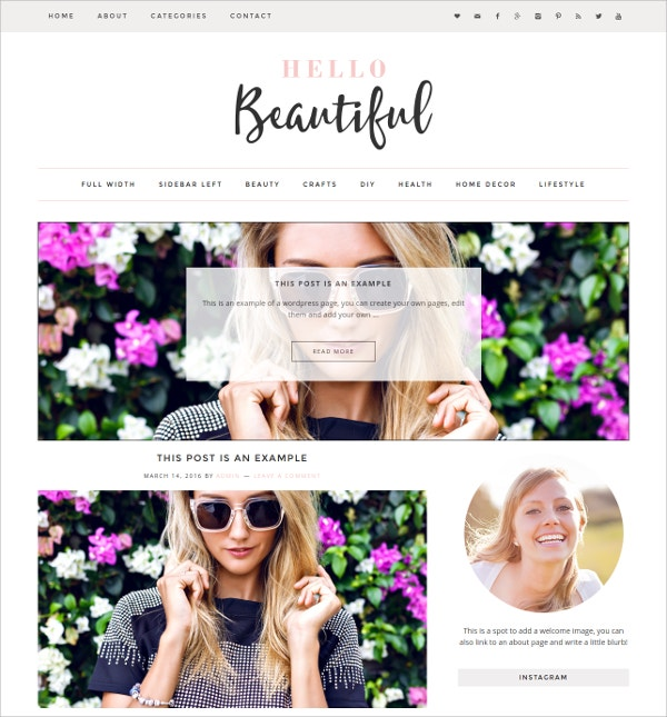 Beautiful WordPress Website Theme $35