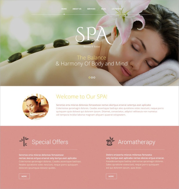 Beauty Salon Website Template $41