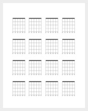 Blank Bass Guitar Chord Chart