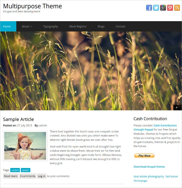 multipurpose business drupal website theme