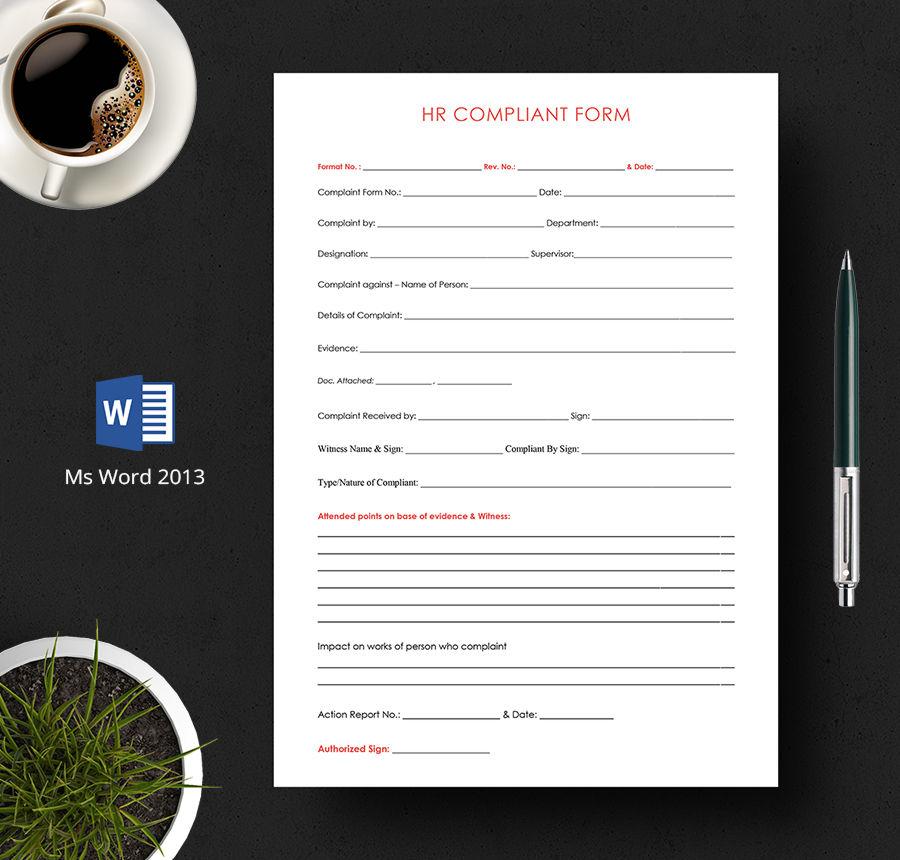 hr complaint form template1