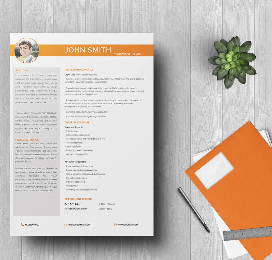 Senior Accounting Clerk Resume Template