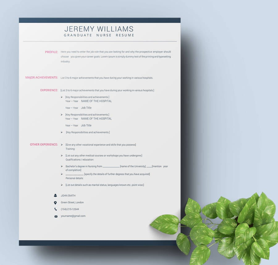 Free Resume Templates  Fresher Nurse Teacher Sales  Free