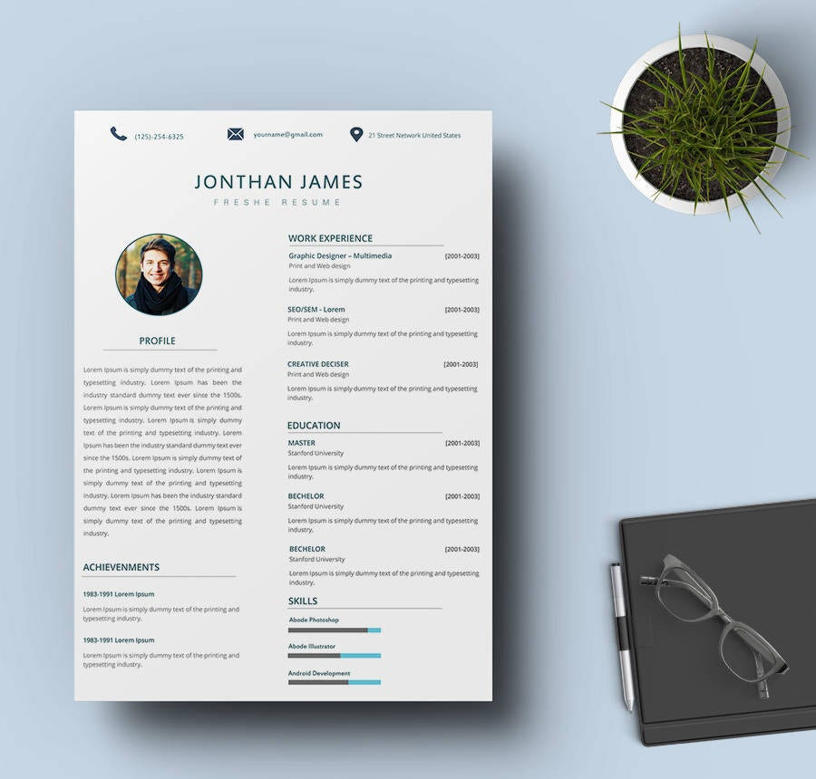 IT Fresher Resume Template