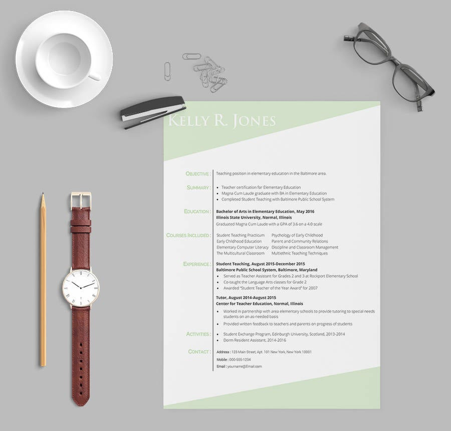 Experienced Resume Template for Teachers