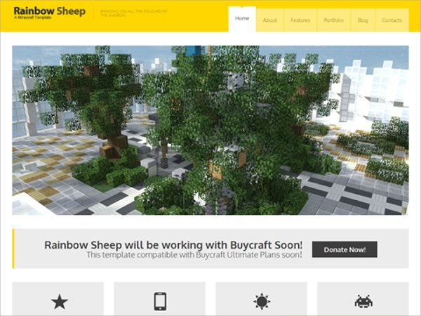 Design MineCraft Website Theme