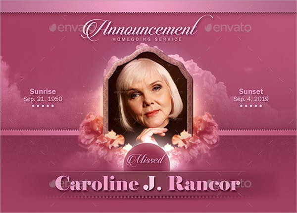 15 Funeral Card Templates Free PSD AI EPS Format Download – Funeral Announcement Template Free