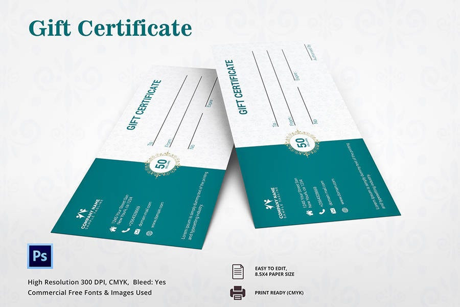 7 Free Gift Certificate Templates Birthday Business Spa – Fitness Gift Certificate Template