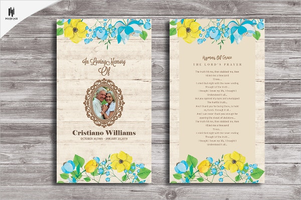Funeral Prayer Event Card Template