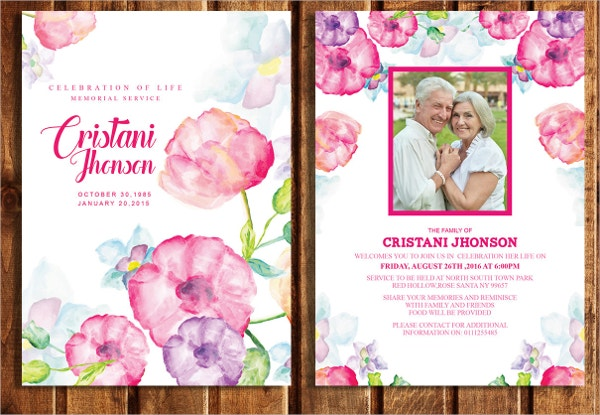 15 Funeral Card Templates Free PSD AI EPS Format Download – Funeral Invitation Card