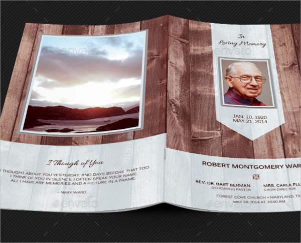 Scape Funeral Program Card Template