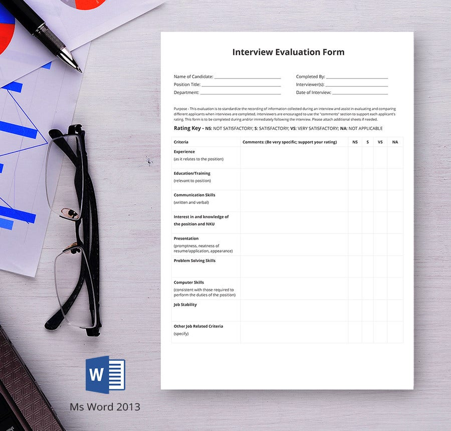 Hr Evaluation Form Hr Candidate Evaluation Form Hr Forms In Pdf